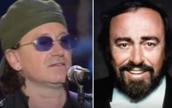 Bono and Pavarotti Sing the Ave Maria
