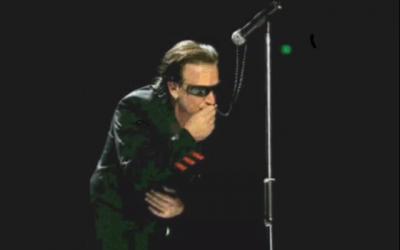 U2 Bono salutes Pope John Paul II