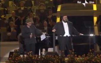 Bono and Pavarotti singing the Ave Maria.