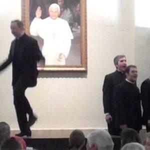 dancing seminarians and priests
