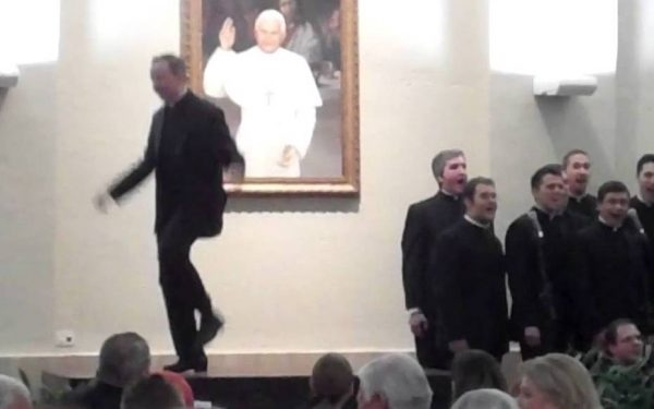 dancing seminarians and priests