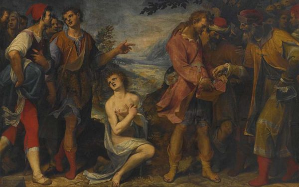 800px-Damiano_Mascagni_Joseph_Sold_Into_Slavery_by_His_Brothers