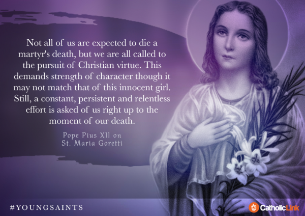 St. Maria Goretti Quote