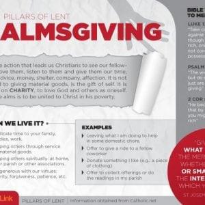Infographic: The 3 Pillars of Lent Almsgiving, Fasting and Prayer