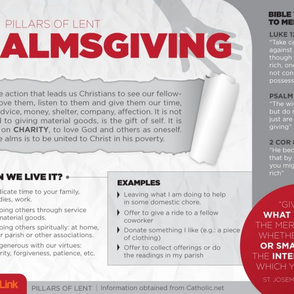 Infographic: The 3 Pillars of Lent Almsgiving, Fasting and Prayer