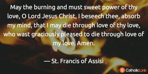 Spiritual Communion 3 St. Francis of Assissi