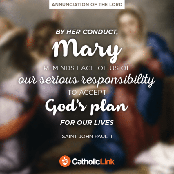 Mary Reminds Us To Accept God's Plans | St. John Paul II