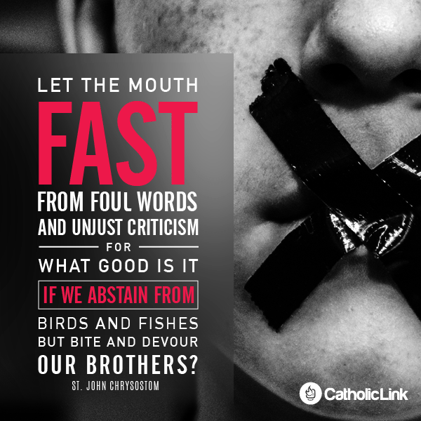 Let The Mouth Fast From Foul Words | St. John Chrysostom