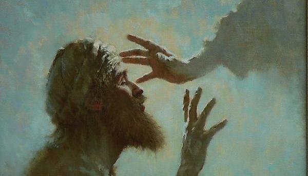 Bartimaeus being healed