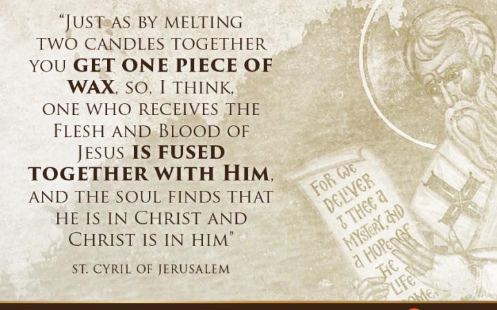 Saint Quote on The Eucharist