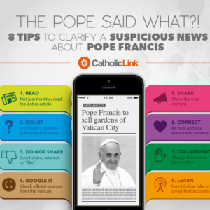 Infographic: 8 Tips to Clarify Fake News About Pope Francis