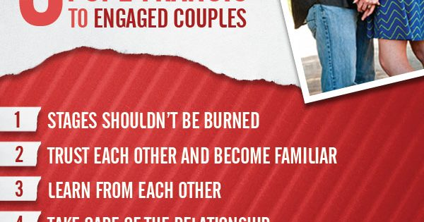 Infographic: 5 tips for Pope Francis to Engaged Couples
