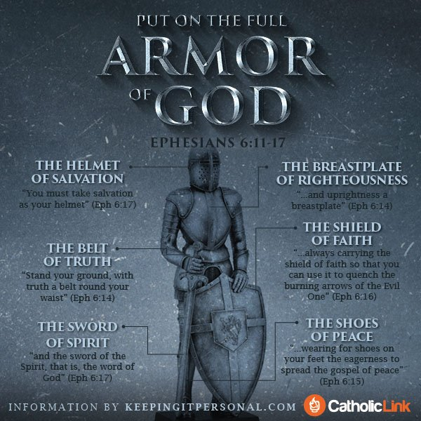 Infographic: Put On The Full Armor Of God Ephesians 6:11-17