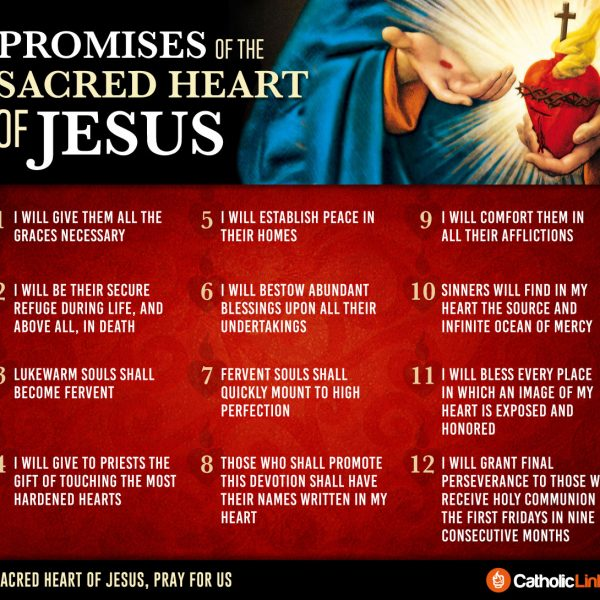 Infographic: The 12 Promises of the Sacred Heart of Jesus