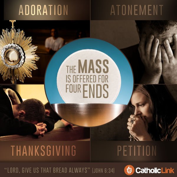 The Mass is Offered for Four Ends | Infographic