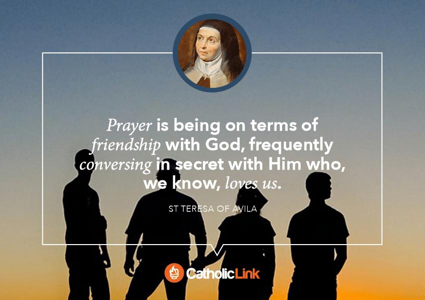 St. Teresa quote on prayer