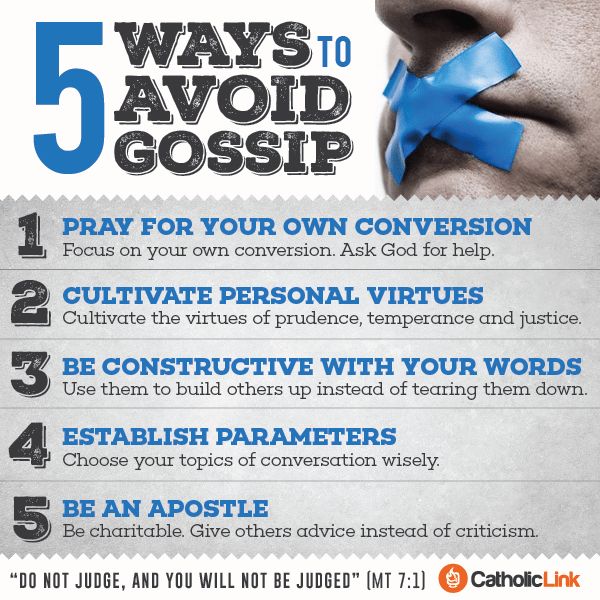 Infographic: 5 Ways to Avoid Gossip