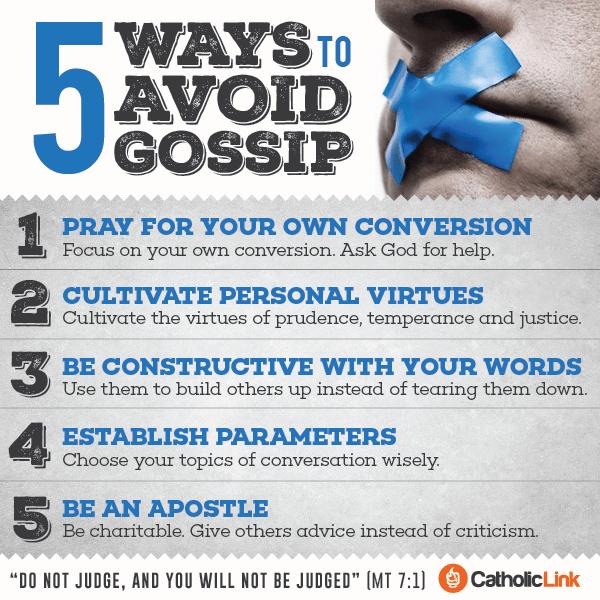 Infographic: 5 Ways to Avoid Gossip