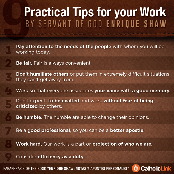 9 Practical Tips For Those Who Work According To Enrique Shaw