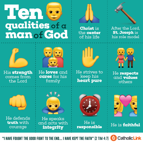 Infographic: 10 Qualities Of A Godly Man