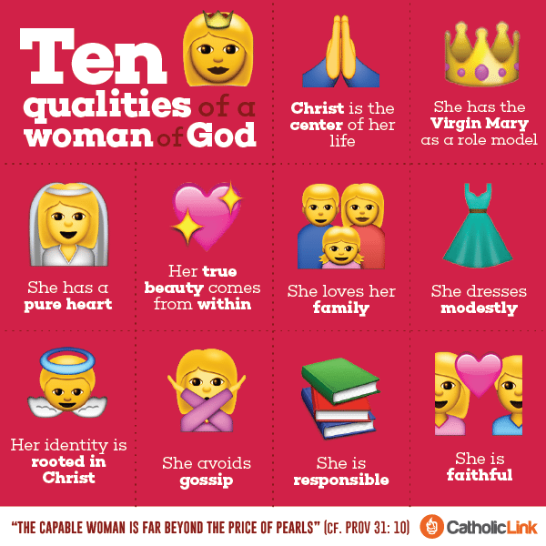 Infographic: 10 Qualities Of A Woman Of God