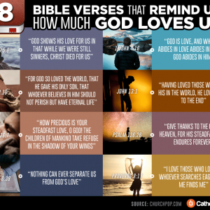 8 Bible Verses That Remind Us How Much God Loves Us
