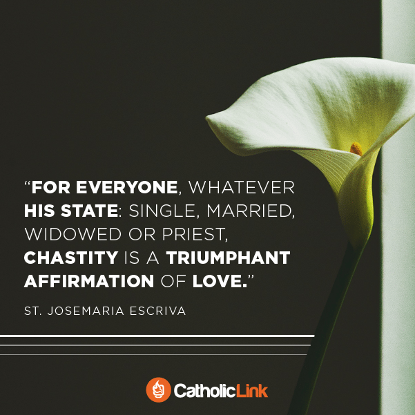Chastity Is An Affirmation Of Love | St. Josemaria Escriva Quote