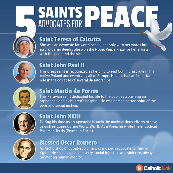 5 Saints Who Advocated For Peace