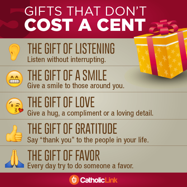 Infographic: 5 Christmas gifts that don't cost a cent