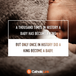 During Christmas, The King Of Peace Becomes A Baby