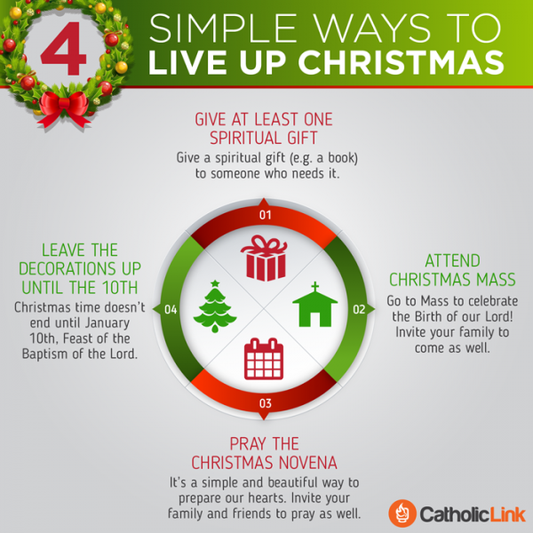 Infographic: 4 simple ways to live up Christmas