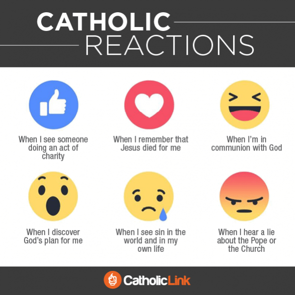 Catholic Reactions and Emojis for Social Media