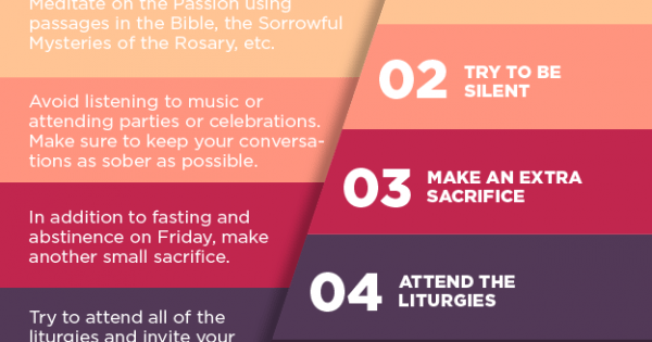 How To Make The Most Of Holy Week Infographic
