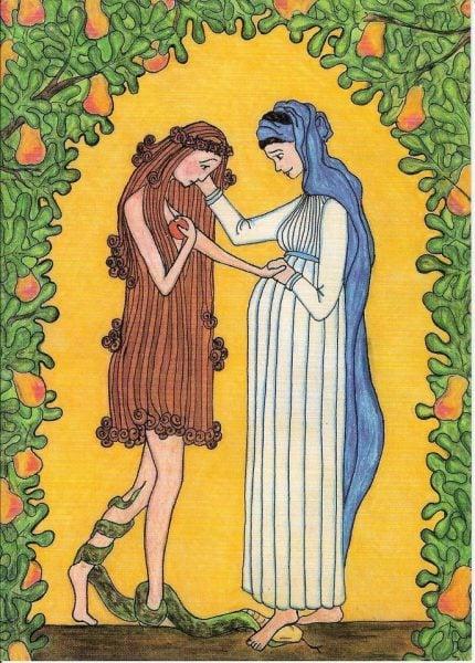 Le libre-choix de Marie. Annunciation1