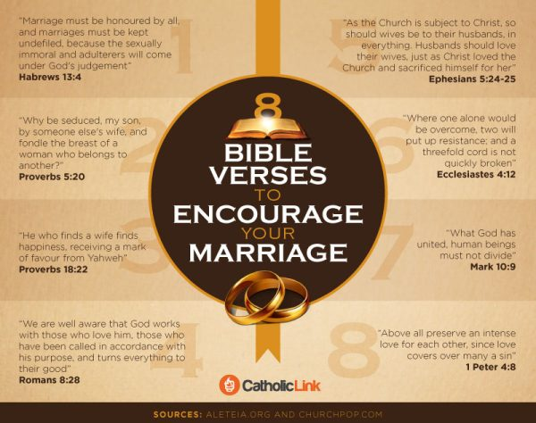 Infographic 8 Bible Verses To Encourage Your Marriage Catholic Link