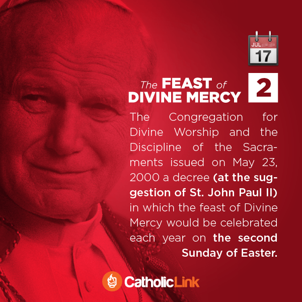 What Is Divine Mercy Sunday St. Faustina Pope John Paul II