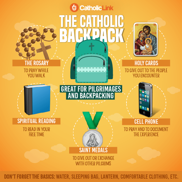 Infographic: Items every Catholic should have in their backpack during a pilgrimage