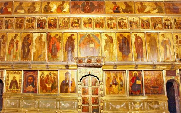Iconostasis of the Trinity Cathedral of the Trinity-Sergius Lavra