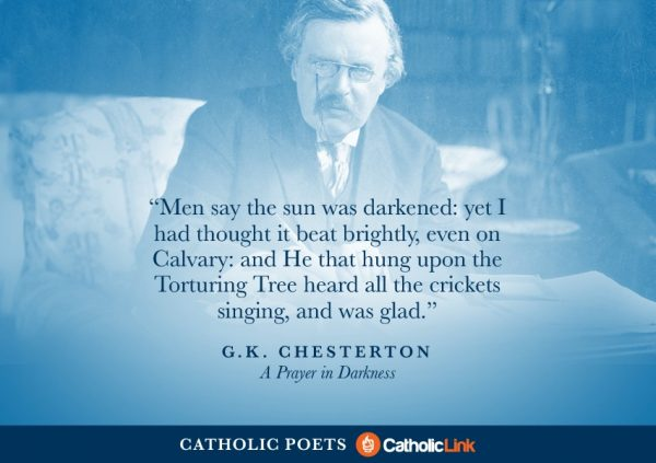 Catholic Poets You Should Know About G.K. Chesterton