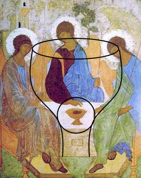 Trinity Icon Rublev Cup of Sacrifice