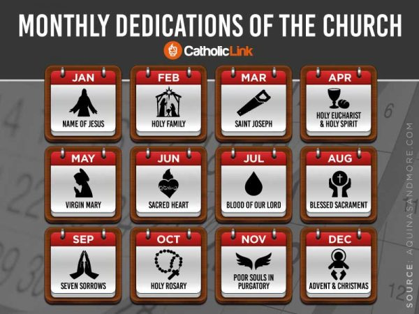2020 Monthly Dedications Of The Catholic Church