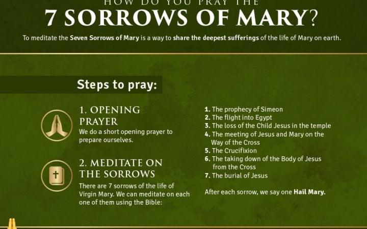 how to pray the 7 sorrows of mary