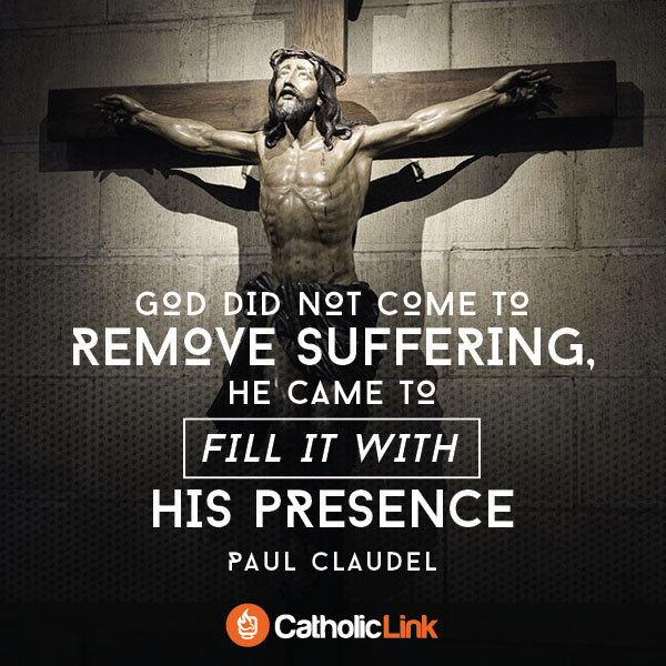 atholic quotes, infographics, memes and more resources for the New Evangelization. God did not come to explain away suffering or remove it.