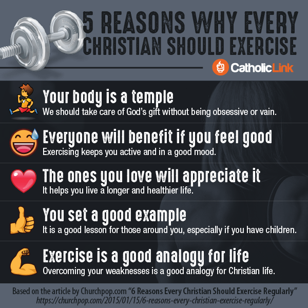 Infographic: 5 reasons why every Christian should exercise | Catholic-Link.org