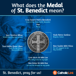 What Does The Medal Of St. Benedict Mean? | Infographic