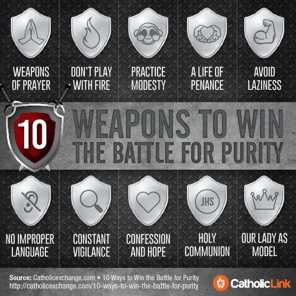 Infographic: 10 weapons to win the battle for purity | Catholic-Link.org