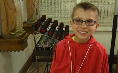 This Boy's Make-A-Wish? A Blessing from Pope Francis…