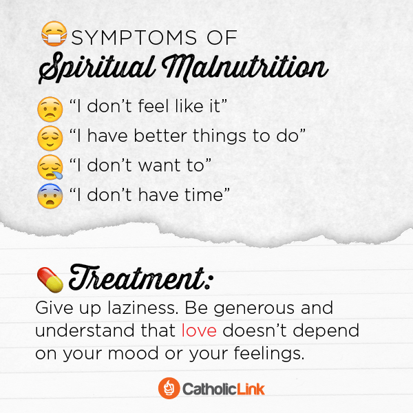Symptoms Of Spiritual Malnutrition