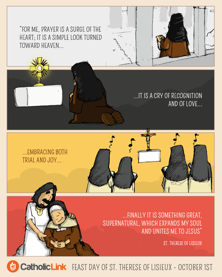 St. Therese Feast Day Infographic