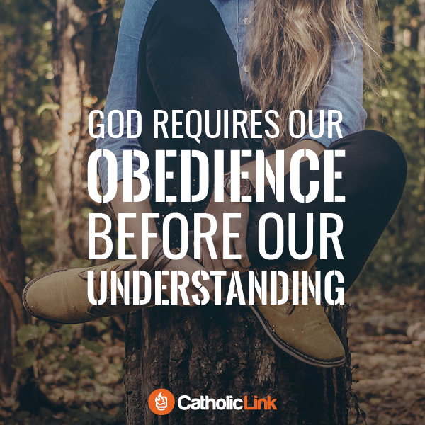 God requires our obedience before our understanding